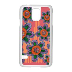 Colorful Floral Dream Samsung Galaxy S5 Case (White)