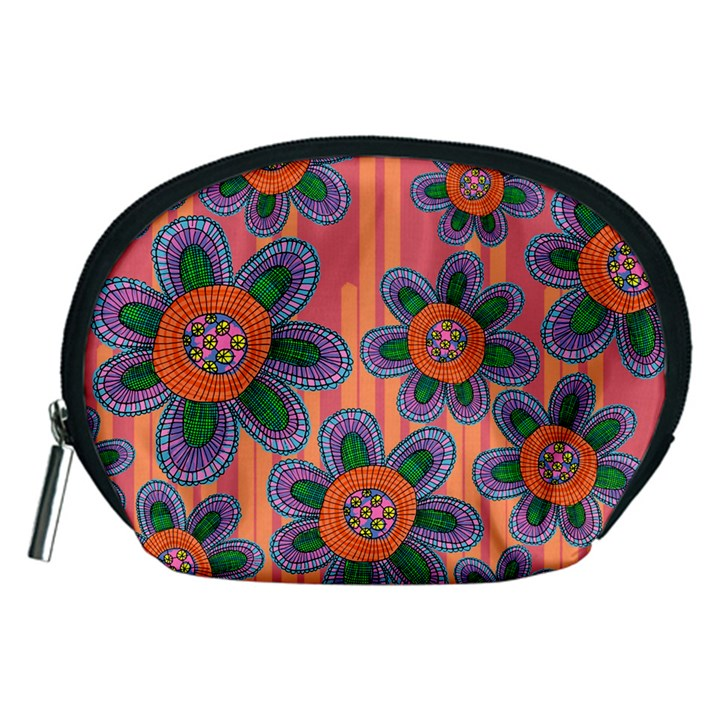 Colorful Floral Dream Accessory Pouches (Medium)