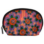 Colorful Floral Dream Accessory Pouches (Large)  Front