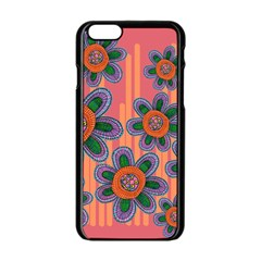 Colorful Floral Dream Apple Iphone 6/6s Black Enamel Case