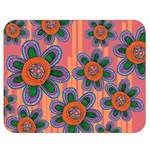 Colorful Floral Dream Double Sided Flano Blanket (Medium)  60 x50 Blanket Back