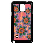 Colorful Floral Dream Samsung Galaxy Note 4 Case (Black) Front