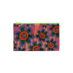 Colorful Floral Dream Cosmetic Bag (xs) by DanaeStudio