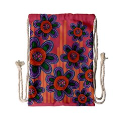 Colorful Floral Dream Drawstring Bag (Small)