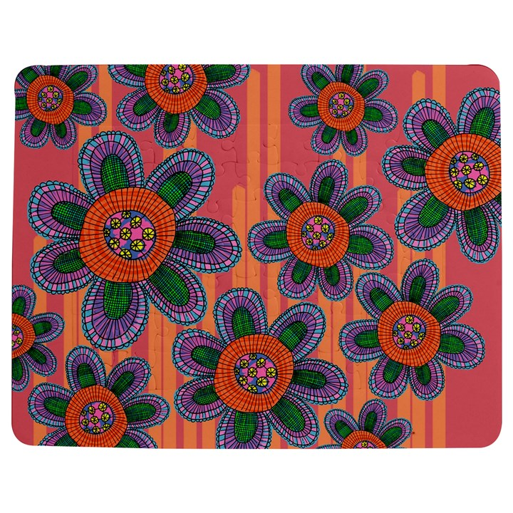 Colorful Floral Dream Jigsaw Puzzle Photo Stand (Rectangular)
