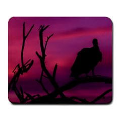 Vultures At Top Of Tree Silhouette Illustration Large Mousepads by dflcprints