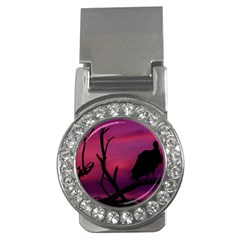 Vultures At Top Of Tree Silhouette Illustration Money Clips (CZ)