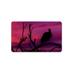Vultures At Top Of Tree Silhouette Illustration Magnet (name Card) by dflcprints