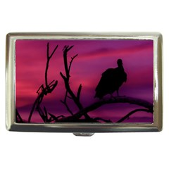Vultures At Top Of Tree Silhouette Illustration Cigarette Money Cases by dflcprints