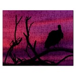 Vultures At Top Of Tree Silhouette Illustration Rectangular Jigsaw Puzzl