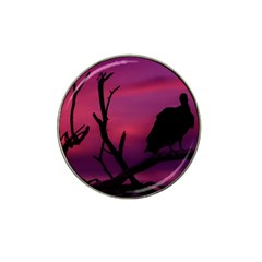 Vultures At Top Of Tree Silhouette Illustration Hat Clip Ball Marker (4 Pack) by dflcprints