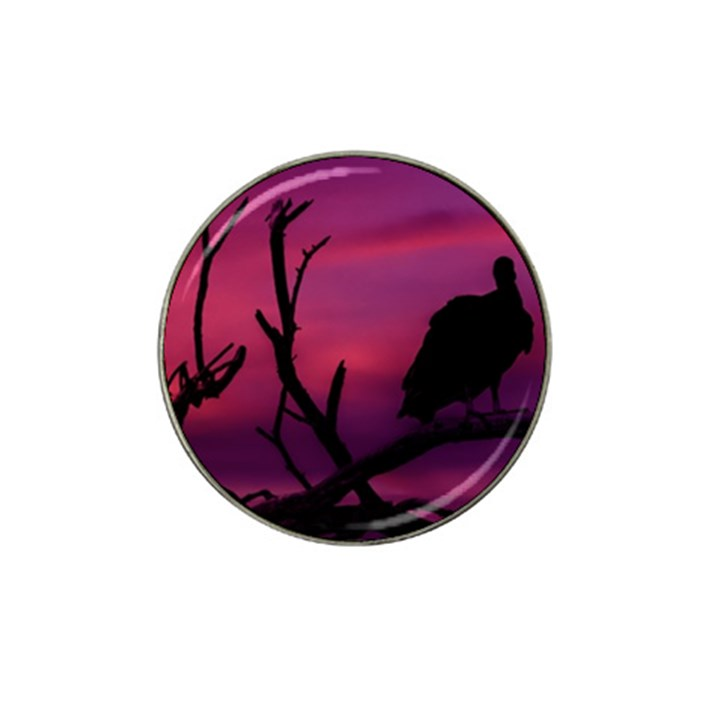 Vultures At Top Of Tree Silhouette Illustration Hat Clip Ball Marker (10 pack)