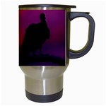 Vultures At Top Of Tree Silhouette Illustration Travel Mugs (White) Right