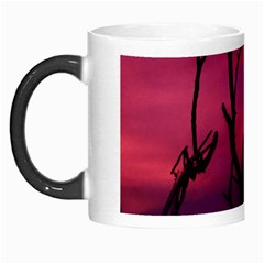 Vultures At Top Of Tree Silhouette Illustration Morph Mugs by dflcprints