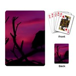 Vultures At Top Of Tree Silhouette Illustration Playing Card