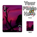Vultures At Top Of Tree Silhouette Illustration Playing Cards 54 Designs  Front - Spade3