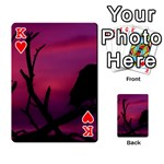 Vultures At Top Of Tree Silhouette Illustration Playing Cards 54 Designs  Front - HeartK