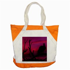 Vultures At Top Of Tree Silhouette Illustration Accent Tote Bag