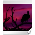 Vultures At Top Of Tree Silhouette Illustration Canvas 8  x 10