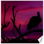 Vultures At Top Of Tree Silhouette Illustration Canvas 16  x 16