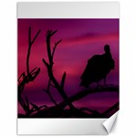 Vultures At Top Of Tree Silhouette Illustration Canvas 18  x 24
