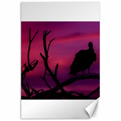 Vultures At Top Of Tree Silhouette Illustration Canvas 20  X 30