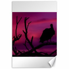 Vultures At Top Of Tree Silhouette Illustration Canvas 24  X 36