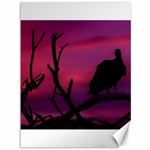 Vultures At Top Of Tree Silhouette Illustration Canvas 36  x 48