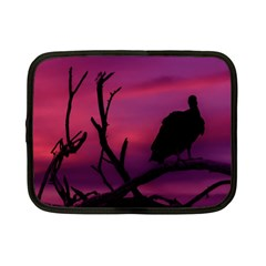 Vultures At Top Of Tree Silhouette Illustration Netbook Case (small)  by dflcprints