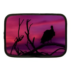Vultures At Top Of Tree Silhouette Illustration Netbook Case (Medium)