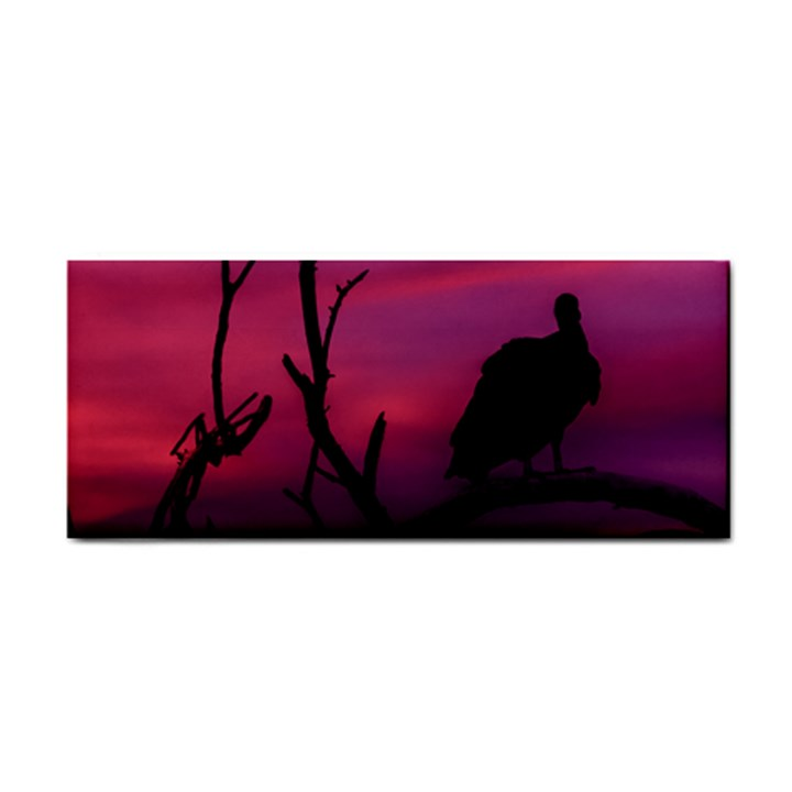Vultures At Top Of Tree Silhouette Illustration Hand Towel