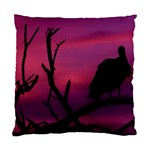 Vultures At Top Of Tree Silhouette Illustration Standard Cushion Case (Two Sides)
