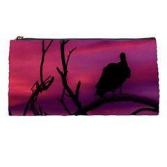 Vultures At Top Of Tree Silhouette Illustration Pencil Cases