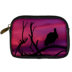 Vultures At Top Of Tree Silhouette Illustration Digital Camera Cases by dflcprints