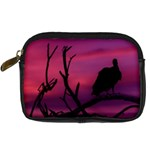 Vultures At Top Of Tree Silhouette Illustration Digital Camera Cases