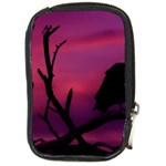 Vultures At Top Of Tree Silhouette Illustration Compact Camera Cases