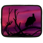 Vultures At Top Of Tree Silhouette Illustration Netbook Case (XL)