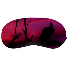 Vultures At Top Of Tree Silhouette Illustration Sleeping Masks by dflcprints
