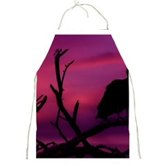 Vultures At Top Of Tree Silhouette Illustration Full Print Aprons by dflcprints