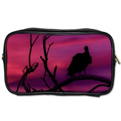 Vultures At Top Of Tree Silhouette Illustration Toiletries Bags by dflcprints