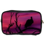 Vultures At Top Of Tree Silhouette Illustration Toiletries Bags
