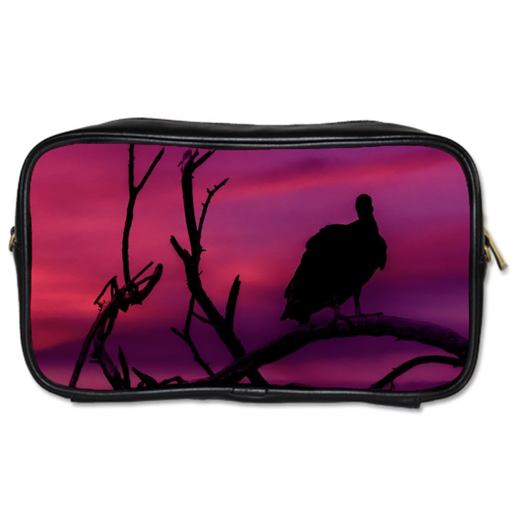 Vultures At Top Of Tree Silhouette Illustration Toiletries Bags 2-Side