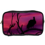Vultures At Top Of Tree Silhouette Illustration Toiletries Bags 2-Side Back