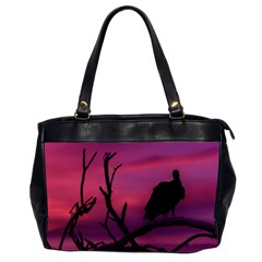 Vultures At Top Of Tree Silhouette Illustration Office Handbags (2 Sides)  by dflcprints
