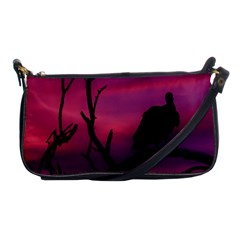 Vultures At Top Of Tree Silhouette Illustration Shoulder Clutch Bags
