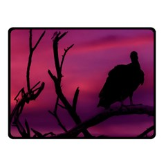 Vultures At Top Of Tree Silhouette Illustration Fleece Blanket (small) by dflcprints