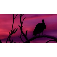 Vultures At Top Of Tree Silhouette Illustration You Are Invited 3d Greeting Card (8x4) by dflcprints