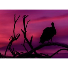 Vultures At Top Of Tree Silhouette Illustration Birthday Cake 3d Greeting Card (7x5) by dflcprints