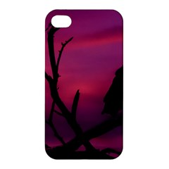 Vultures At Top Of Tree Silhouette Illustration Apple Iphone 4/4s Hardshell Case by dflcprints