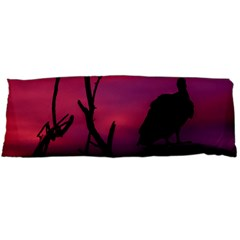 Vultures At Top Of Tree Silhouette Illustration Body Pillow Case (dakimakura) by dflcprints